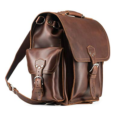 Saddleback Leather Co. Squared Backpack Includes100 Year Warranty