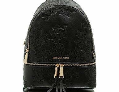 MICHAEL MICHAEL KORS Rhea Small Leather Backpack (Black Paisley) Review