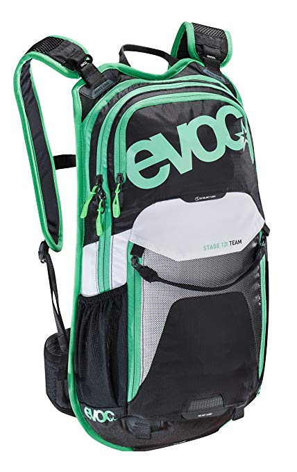 Evoc Stage 12L Team Technical Performance Black/White/Green Backpack