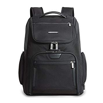 Briggs & Riley @ Work Large U Zip Backpack, Black, One Size