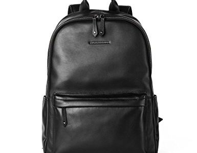 Sharkborough Men's Backpack Genuine Leather Travel Bag Extra Capacity Casual Daypacks Review