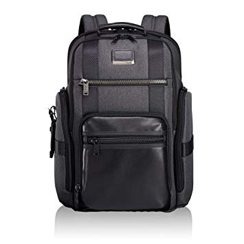 Tumi Men's Alpha Bravo Sheppard Deluxe Brief Pack Business Backpack, Anthracite, One Size