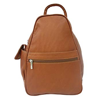 Piel Leather Tri-Shaped Sling Bag, Saddle, One Size