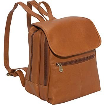 Le Donne Leather Everything Women's Backpack/Purse, One Size, Brown