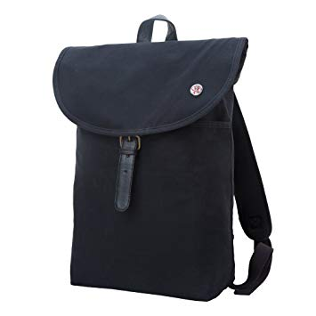 Token Bags Bergen Waxed Backpack Medium, Black, One Size