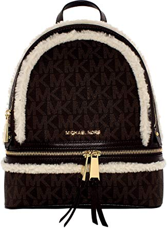Michael Kors Women's Medium Rhea Zip Signature Leather Backpack